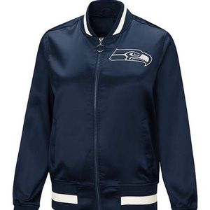 Seattle Seahawks - NEW Touch Satin Bomber Jacket